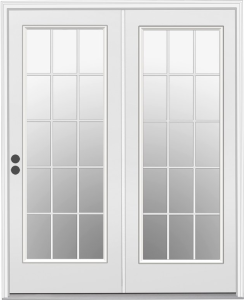 classically styled french door