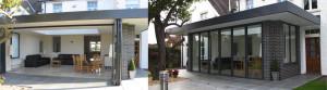 bifold patio doors open