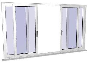 4 panel patio doors